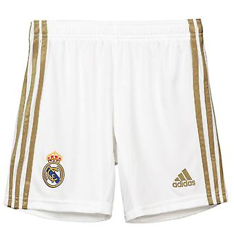 2019-2020 Real Madrid Adidas Home Shorts (White) - Kids