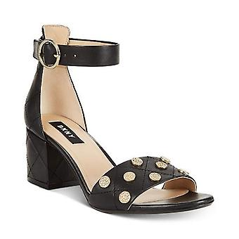 DKNY Womens Henli Leather Open Toe Ankle Strap Classic Pumps