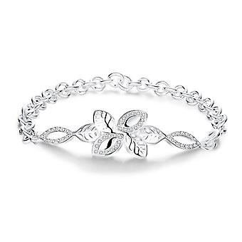 18K White-Gold Plated Elise Bracelet