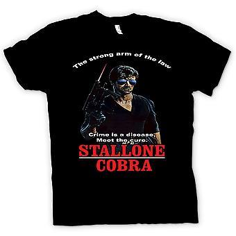Womens T-shirt - Stallone - Cobra - Crime The Disease