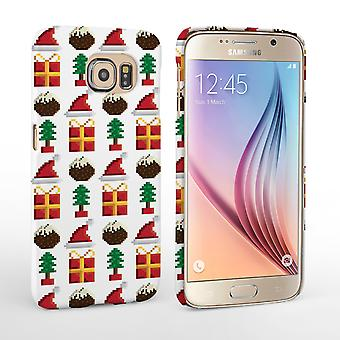 Caseflex Samsung Galaxy S6 Retro Game Christmas Presents and Pudding Hard Case
