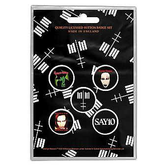 Marilyn Manson Double Cross 5 Pin Badges in Pack (rz) (1)