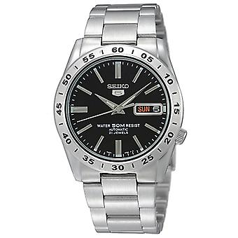 Seiko 5 Automatic Black Dial Stainless Steel Men's Watch SNKE01K1