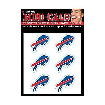 Wincraft 6er Gesicht Aufkleber 3cm - NFL Buffalo Bills