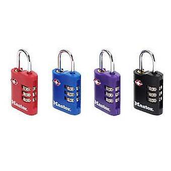 Masterlock Gepäckschloss tsa um 30 mm breit mit anpassbaren Kombination aus Zink genehmigt