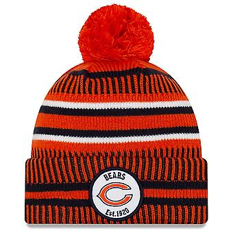 New Era Sideline Home 2019 Bommel Mütze Chicago Bears