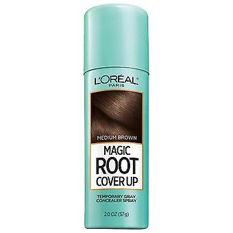 L'oreal paris magic root cover up gray spray, medium brown, 2 oz