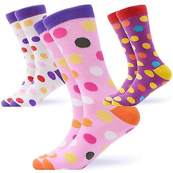 Men's bright spotty gift 3 pairs of socks