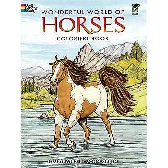 Dover Publications Wonderful World Of Horses Coloring Book Dov 44465
