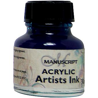 Manuscript Acrylic Artists Ink 30ml-Blue MDP0-42