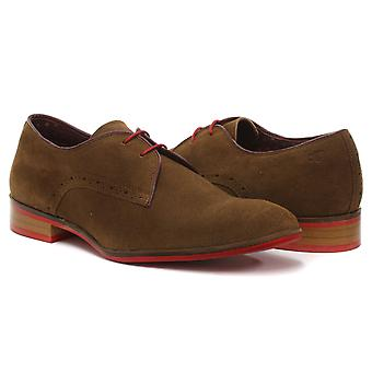 London Brogues Croxley sko Tan Mens spets upp Derby skor