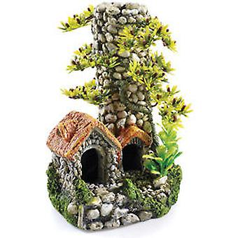 Classic For Pets Cobbled Chimney 200mmT&OM (Fish , Decoration , Ornaments)
