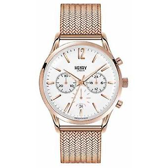 Henry London Richmond Rose Gold Plated Mesh Chronograph HL41-CM-0040 Watch