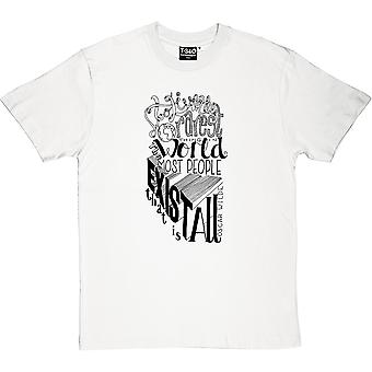 Oscar Wilde To Live Quote Men's T-Shirt