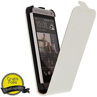 Exclusive flip phone pouch case for mobile HTC one mini / M4 + foil