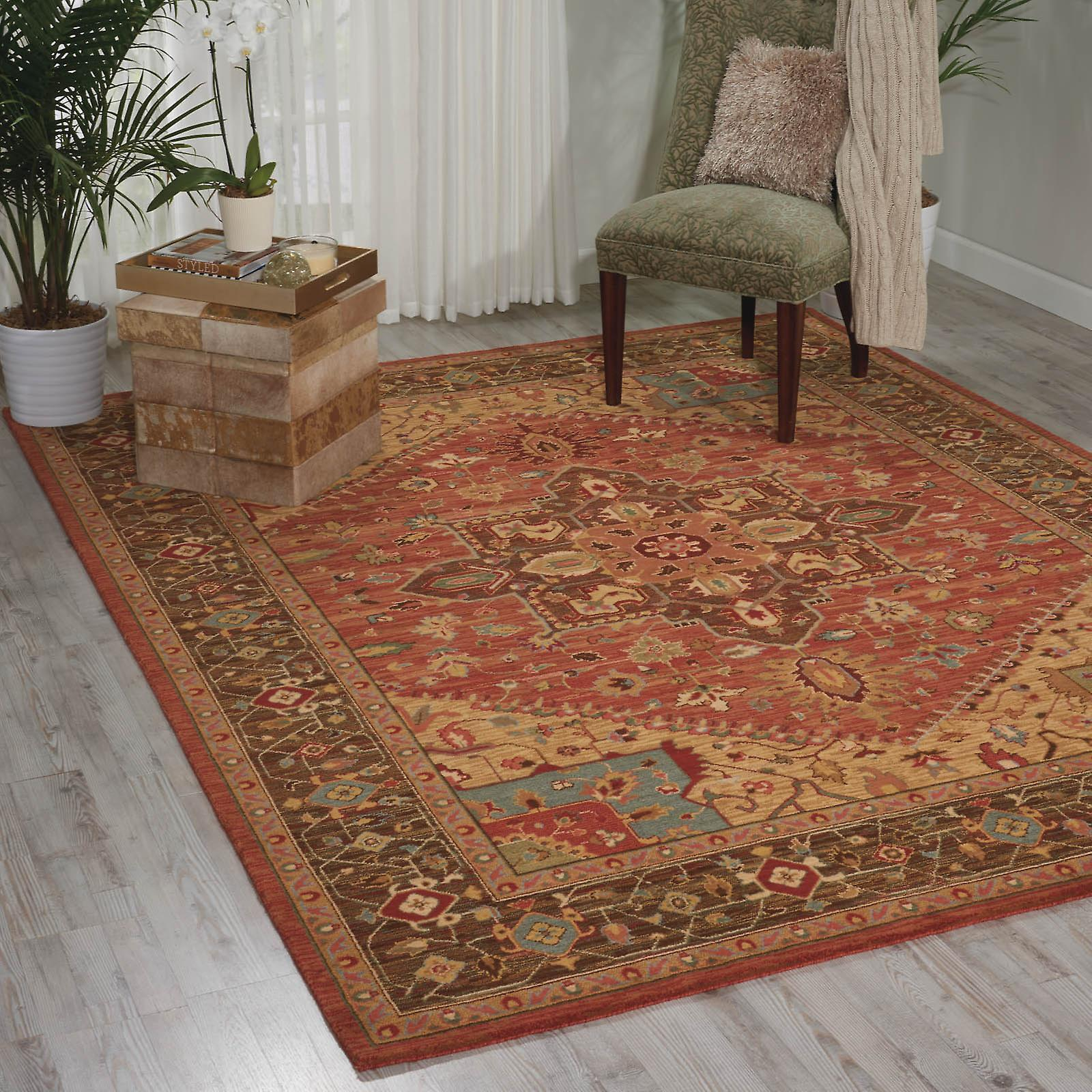 Living Treasure Rugs By Nourison Li01 In Rust