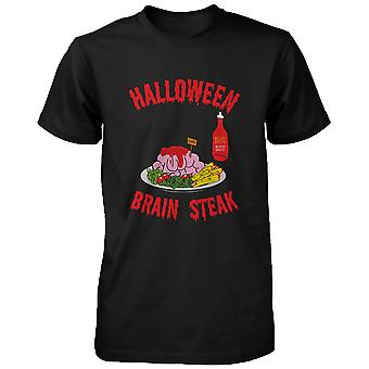 Steak de cerveau Halloween pour chemise Tshirt drôle Zombie masculine d'horreur nuit chemise drôle