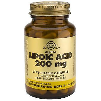 Solgar Alpha Lipoic Acid 200 mg 50 Vegetable Capsules