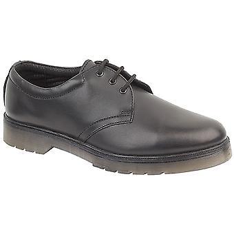 Gibt Mens Aldershot Leder Gibson Schuhe Textil Leder PVC Lace Up Schuhe