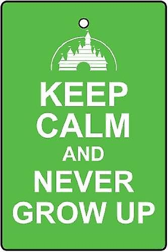 Keep Calm And Never Grow Up Car Air Freshener