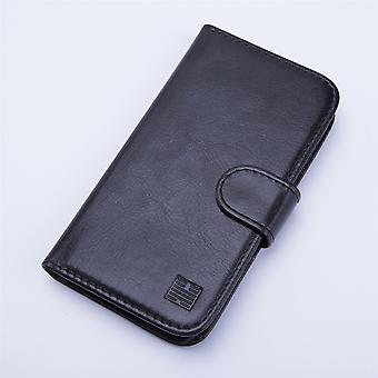 Book wallet case + stylus for Huawei Ascend Y6 - Black