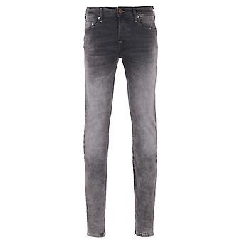 True Religion Rocco Grey Used Denim Relaxed Skinny Jeans