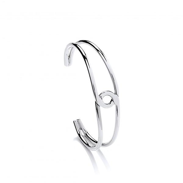 Cavendish French Sterling Silver Simple Loop Cuff Bangle