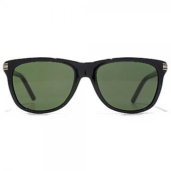 Montblanc Retro Style Sunglasses In Black
