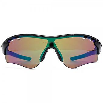 Oakley Radarlock Path Sunglasses In Polished Black Prizm Deep Water Polarised