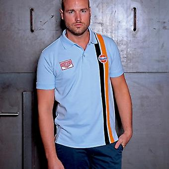 Grandprix Originals Gulf Stripe Polo Gulf Light Blue