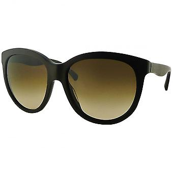 Dolce & Gabbana Ex-Display Dolce & Gabbana Ex-Display Ladies Matte Brown Oversized Round Sunglasses With Gradient Lenses