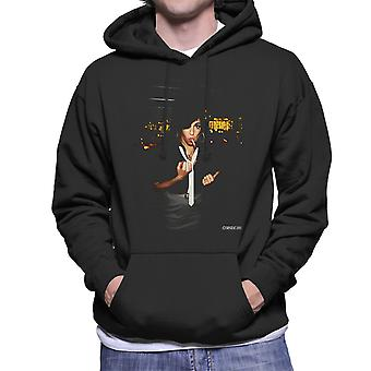 Amy Winehouse Smoking Men's Hooded Sweatshirt