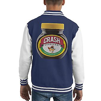 Crash Bandicoot Marmite Genetically Modified Kid's Varsity Jacket