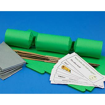 8 MINI Emerald Green Make & Fill Your Own Cracker Making Craft Kit