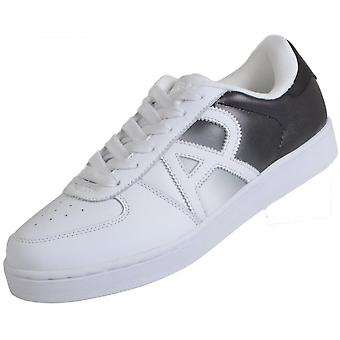 Armani Jeans B6565 Two Tone Leather White/black Trainer