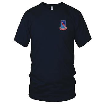 US Army - 323rd Military Intelligence Battalion Embroidered Patch - Mens T Shirt