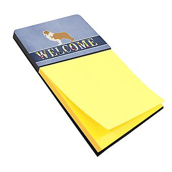 Carolines Treasures  BB5526SN Red Border Collie Welcome Sticky Note Holder