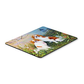 Japanese Chin Wasabi and Ginger Mouse Pad, Hot Pad or Trivet