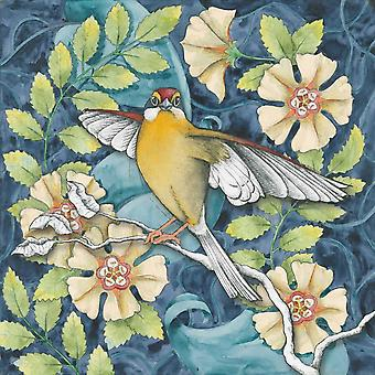 Arts and Crafts Bird IV Poster Print by Elyse DeNeige
