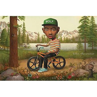 Tyler the Creator Wolf Hat Poster Poster Print