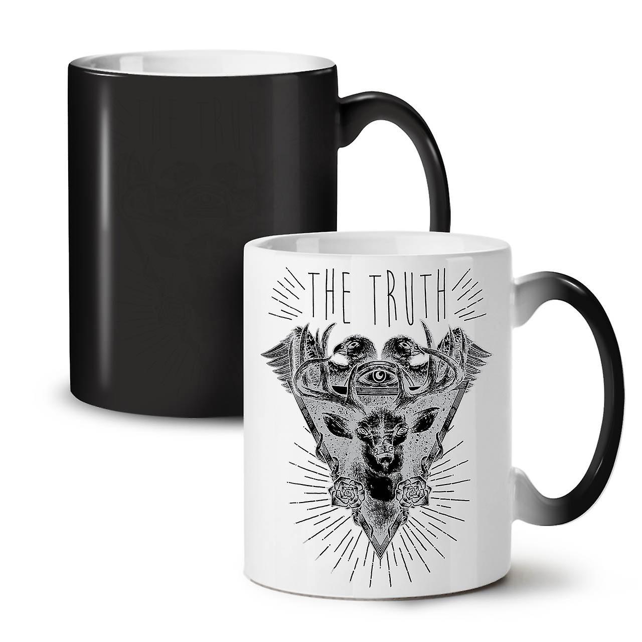 11 OzWellcoda Triangle Changing Tea Coffee Nature Black Mug New Colour Ceramic sdChQtxr
