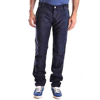 Roy Roger's men's MCBI262030O Blau cotton pants