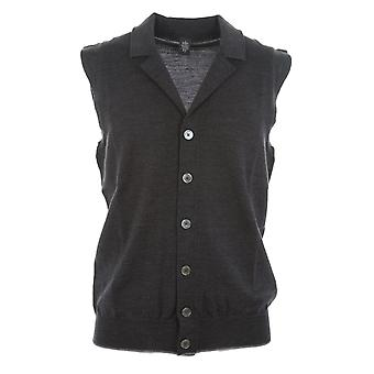 Eleventy men's 979MA022114 grey wool vest