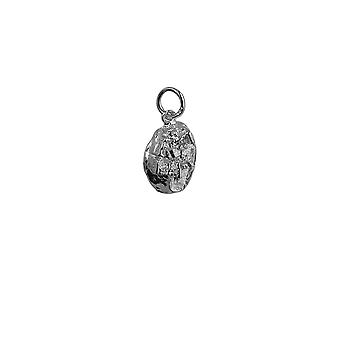 Silver 9x10mm Edinburgh Castle Pendant or Charm