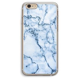 iPhone 6 プラス/6 s プラス透明ケース (ソフト) - 青い大理石