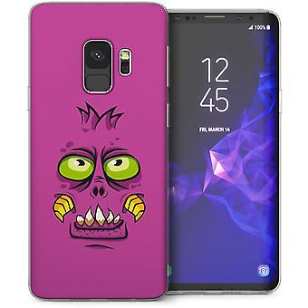 Samsung Galaxy S9 Green Eyed Monster Cartoon TPU Gel geval – paars