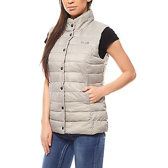 Outdoor quilted vest jacket ladies grey FLASHLIGHTS