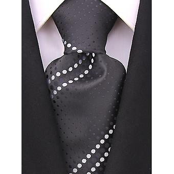 Scott Allan Mens Geometric Necktie - Black and White Mens Tie