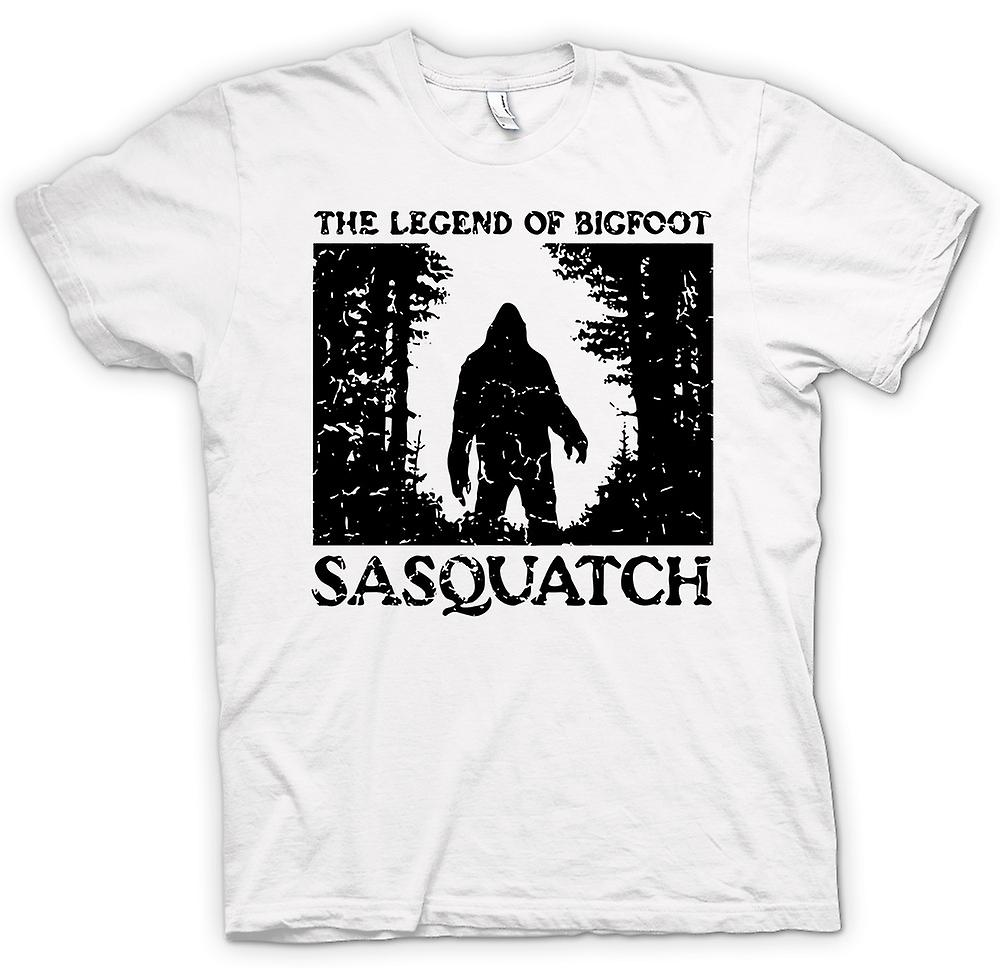 Womens T-shirt - Sasquatch Yeti Bigfoot waarneming - Cryptozoology