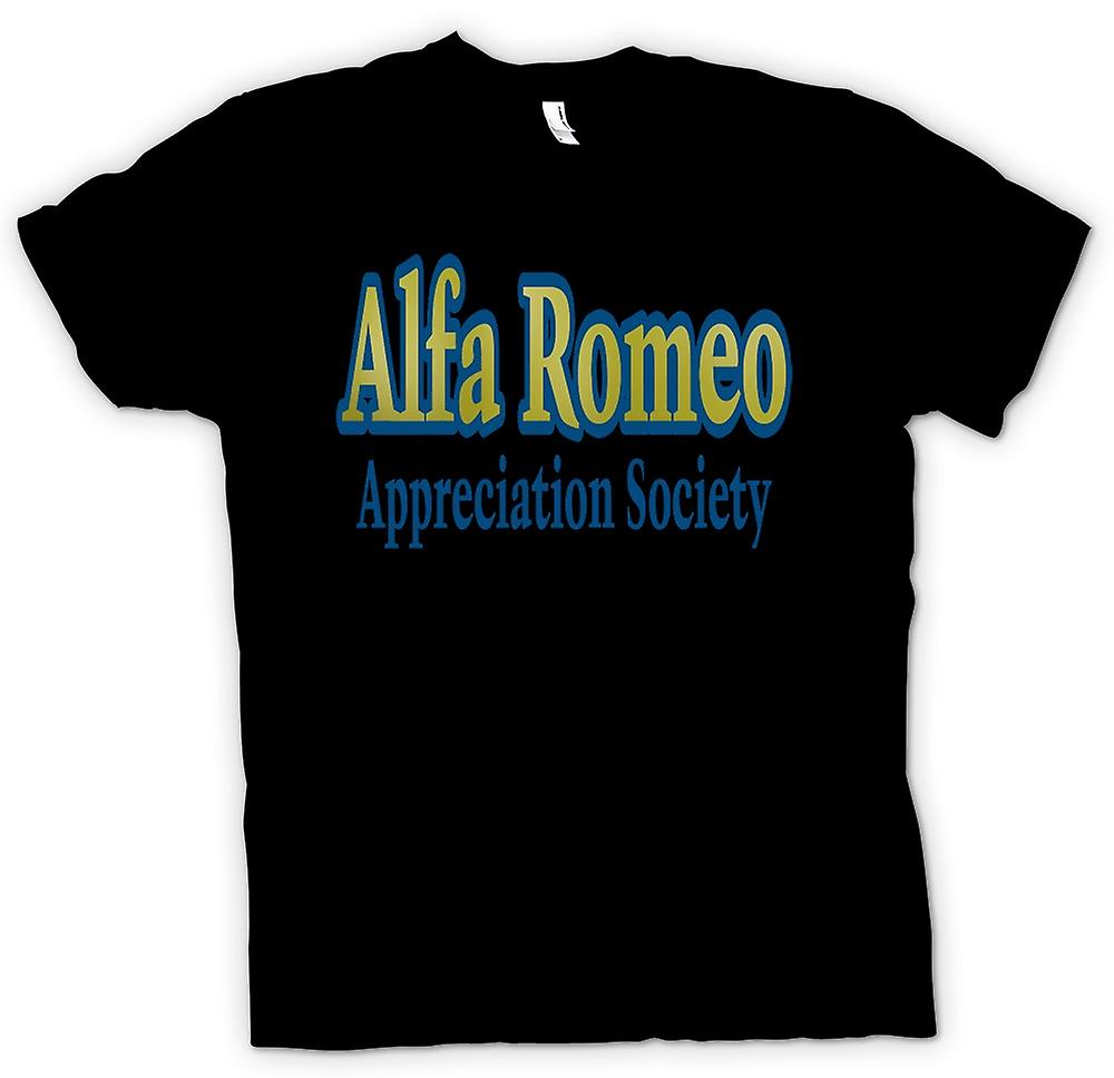Mens t-skjorte-Alfa Romeo Appreciation Society